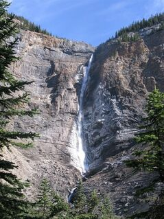Takakkaw Falls, near Field, B.C., shown in this recent photo, can be seen from kilometres away but its loud roar is the first thing you notice when you step out of your car.
