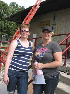 Cathy Surbey (left) and Jackie Hanna at Windsor Community Centre on Aug. 7.
