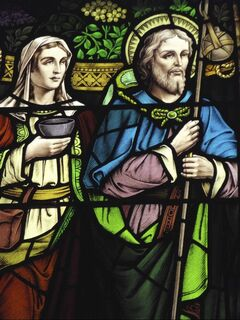 Intricate stained glass and specially tailored music leads church visitors through the life of Christ.