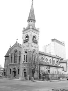 St. Mary's Roman Catholic Cathedral is a jewel in downtown  Winnipeg.