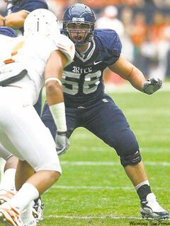 Ironically, Rice University's Scott Mitchell may be too good to be drafted No.1.