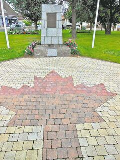 Les place des 37 canadiens in Authie, France, honours Canadians murdered by the SS.