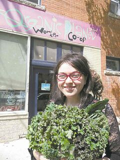 Ciara Preteau, one of the owners of the Organic Planet Worker Co-op.