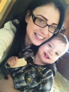 Michelle Prymych and 19-month-old son, Kylan Lux, who died suddenly Dec. 12.