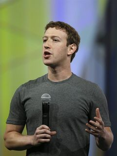 Facebook CEO Mark Zuckerberg gestures while delivering the keynote address at the f8 Facebook Developer Conference Wednesday, April 30, 2014, in San Francisco. (AP Photo/Ben Margot)