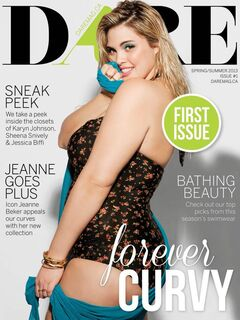 The cover of the first issue of the online magazine for plus-sized women.