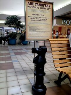 This oversized chess piece was stolen from Garden City Shopping Centre on Fri., June 6.