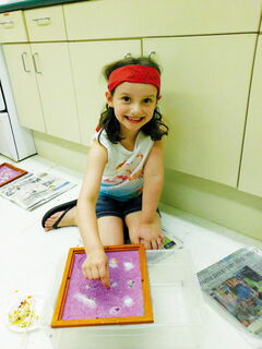 Sophia Garcia made paper during last year's Summer Camp for Creative Kids offered by the Macdonald-Headingley Recreation District.