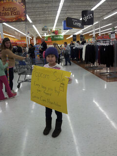 Ylinh Lee insisted to her parents she had to take part in a popcorn fundraiser to benefit CancerCare Manitoba.