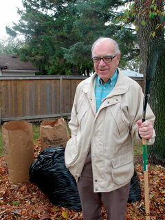 James Nolan isn't sure what he's going to do with all of his leaves.