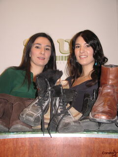 Sisters Voula Sarlas (left) and Pam Grynol own Soul Shoes and for the sixth year in a row are collecting donations of new and gently used shoes for Winnipeg's needy.