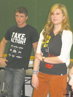 Robert Palmer and Kim Mcleod spent a day with Churchill High School students