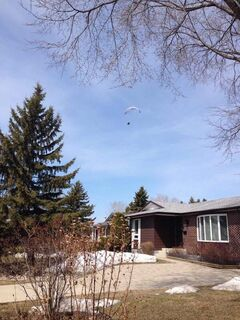 Reader @Birdman2403 on Twitter sent us this picture of a paraglider in the skies over Winnipeg on April 20.