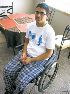 Dhruv Kapoor hopes to one day not require the services of his wheelchair.
