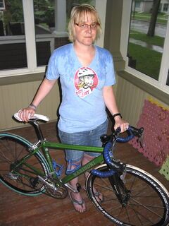 Andrea Richardson-Lipon is a key organizer with the Velodonnas bicycle group that will be holding The Dirt Skirt series of races this summer.