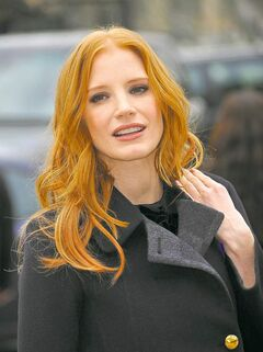 Jessica Chastain is one movie star who proudly sports her naturally pale skin both onscreen and off.