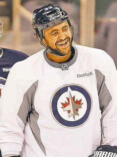 Dustin Byfuglien is looking good on the right wing.