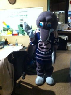 The mascot was stolen from The Forks.