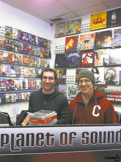 Dave Paton (l.) and Dave Wright of Planet of Sound on Henderson Highway.