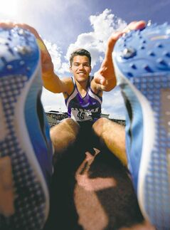 Jay Ort of Carman won three distance events over the weekend at the high school track and field championships.