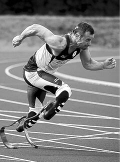 South Africa's Olympian Oscar Pistorius will run at the Paralympics, too.