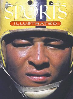 Calvin Jones on the cover of Sports Illustrated.