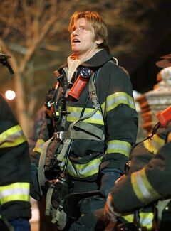 FILE - In this Jan. 29, 2009 file photo, actor Dennis Leary, who portrays Tommy Gavin, is shown on location during filming for the television show