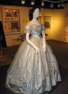 Susan Paul wore this gown when she danced with the Prince of Wales - the future King Edward VII - at a ball on Sept. 13, 1860, in London, Ont. The dress is the star attraction of a new exhibition at the Elgin County Museum in St. Thomas, Ont. THE CANADIAN PRESS/HO-Elgin County Museum
