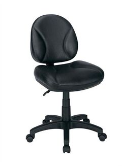 This undated photo provided by the U.S. Consumer Product Safety Commission shows an Office Depot Gibson Leather Task Chair. The chair is being recalled because the mounting plate weld can break and separate the seat from the base of the chair, posing a fall hazard to consumers. (AP Photo/U.S. Consumer Product Safety Commission)