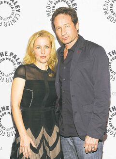 Gillian Anderson and David Duchovny at 'The Truth Is Here: David Duchovny and Gillian Anderson on The X-Files.'