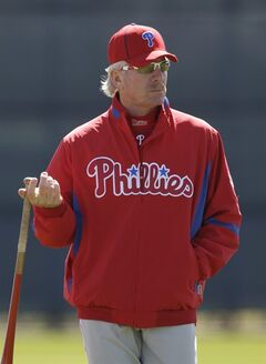 FILE - In this Feb. 26, 2010, file photo, Philadelphia Phillies spring instructor Mike Schmidt holds a bat during a spring training baseball practice in Clearwater, Fla. I just returned from Hall of Fame induction weekend, where I find that my cronies and I are slowly becoming the older generation of the membership. (AP Photo/Eric Gay, File)