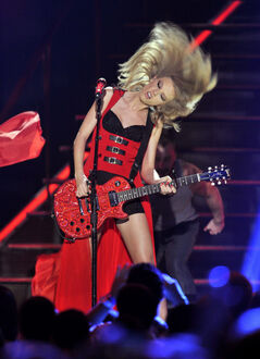 Taylor Swift performs at the 2013 CMT Music Awards at Bridgestone Arena earlier this month in Nashville, Tenn.