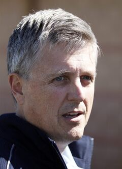 Houston Astros general manager Jeff Luhnow speaks during a media availability at their spring training baseball facility, Saturday, Feb. 15, 2014, in Kissimmee, Fla. (AP Photo/Alex Brandon)