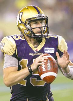 Winnipeg Blue Bombers quarterback Max Hall has a good head on his shoulders, but is by no means a great athlete.