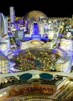 This image provided by Dubai Holding on Saturday July 5, 2014, shows an artist rendition of their planned Mall of the World project that will include an 8 million square foot (743,224 square meter) mall, a climate-controlled street network, a theme park covered during the scorching summer months and 100 hotels and serviced apartments. Dubai Holding, a conglomerate controlled by the emirate's ruler, is developing the complex. It gave no details on the cost or the completion date. (AP Photo/Dubai Holding)