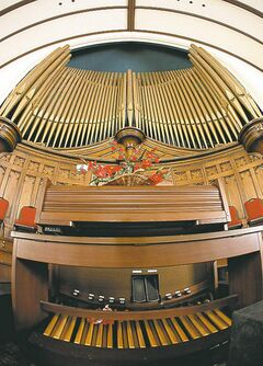 The century-old Westminster United Church features one of the city's best pipe organs.