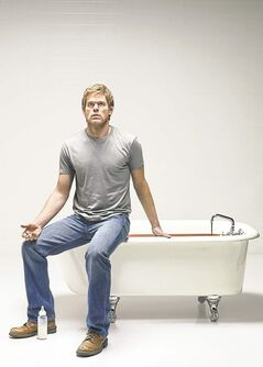 Michael C. Hall plays a psychopath in the  television series Dexter.