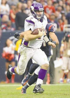 Vikings quarterback Christian Ponder shredded the Texans' defence on his first drive Sunday.