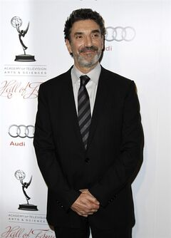 "Chuck Lorre who writes, produces and is a co-creator of such sitcoms as ""Two and a Half Men"", The Big Bang Theory"" and ""Mike and Molly"" is publishing a coffee table book of the cards called, ""What Doesn't Kill Us, Makes Us Bitter."" (AP Photo/Matt Sayles, file)"