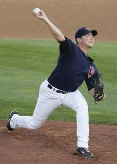 Winnipeg Goldeyes pitcher Matt Rusch