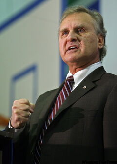 Stephen Lewis is daring Canadians to make a difference.