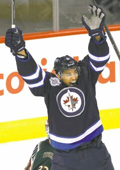 Winnipeg Jets' forward Evander Kane, seen here in a file photo, is celebrating the end of the NHL lockout after a tentative deal was reached Sunday.