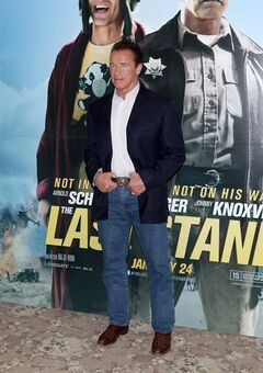 Arnold Schwarzenegger seen at a photo call for the film