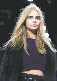 British model Cara Delevingne