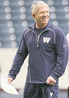 Winnipeg Blue Bombers' head coach Tim Burke