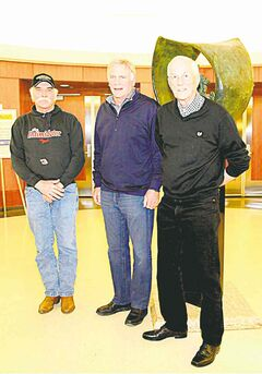 From left, John Scheel, Ian Corbett and Reg Wood were recently inducted into the Manitoba Motorsports Hall of Fame.