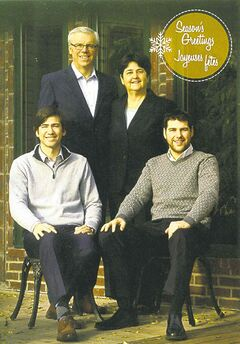Manitoba Premier Greg Selinger's card features his wife, Claudette, and their two sons.