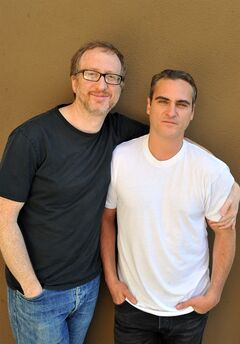 In this Friday, May 9, 2014 photo, screenwriter-director, James Gray, left, and actor Joaquin Phoenix from the film,