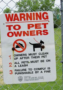 Signs such as this are posted in Kilcona Park for a reason.