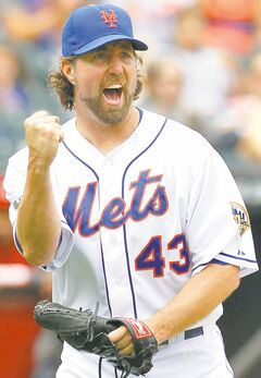 Mets knuckleballer R.A. Dickey was 20-6 with a 2.73 ERA last season, good enough to win the Cy Young.